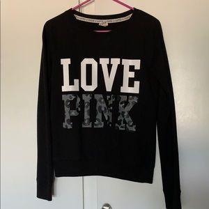 PINK Black Crewneck (size xsmall)
